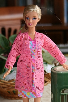 FSL Crochet Cardigan for 12-inch Dolls