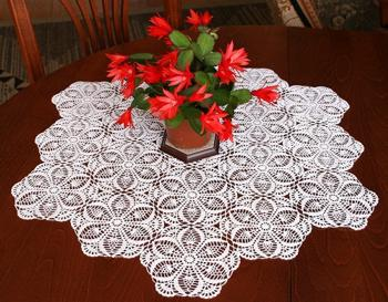 FSL Crochet Pineapple Doily