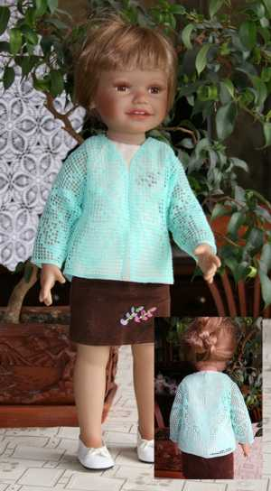 FSL Crochet Butterfly Cardigan for 18-in. Doll