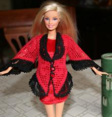 FSL Crochet Lace-Trimmed Jacket for 12 in. Doll