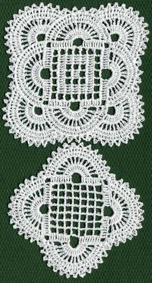 FSL Crochet Shell Doily Set