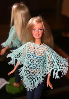 FSL Crochet Poncho for 12-in. Dolls