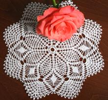 FSL Crochet Pineapple Doily IV