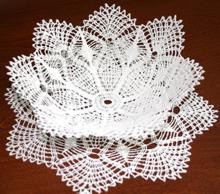 FSL Crochet Pineapple Bowl and Doily Set
