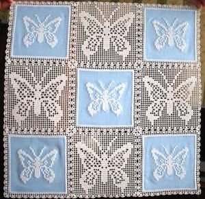 FSL Crochet Butterfly Applique Set