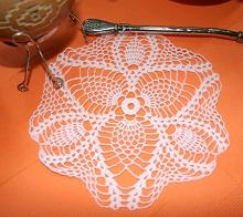FSL Crochet Pineapple Doily V