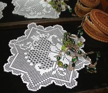 FSL Crochet Floral Bow Doily Set