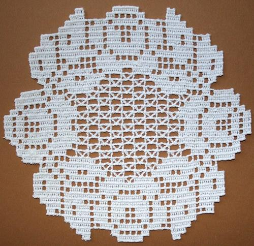Advanced Embroidery Designs Fsl Crochet Round Rose Doily