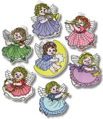 FSL Musical Angel Ornaments