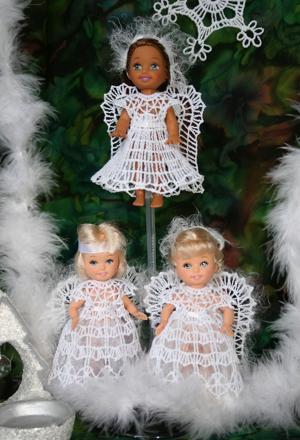 FSL Crochet Angel Dress Set for 4-inch Dolls
