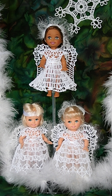 FSL Crochet Angel Dress Set for 4-inch Dolls