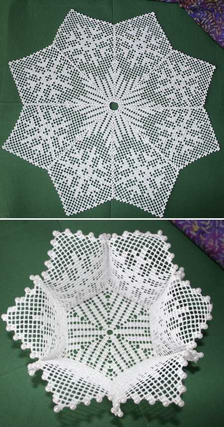 Advanced Embroidery Designs Fsl Crochet Christmas Bowl And Doily Set