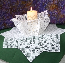 FSL Crochet Christmas Bowl and Doily Set