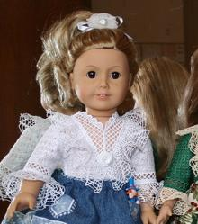 Freestanding Lace Blouse for 18-inch Dolls