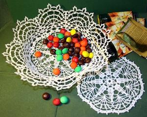 FSL Crochet Victorian Star Bowl and Doily Set
