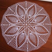 FSL Crochet Poplar Leaves Doily