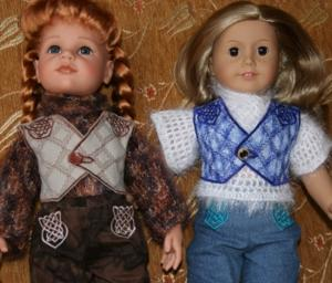FSL Celtic Vest for 18-inch Dolls