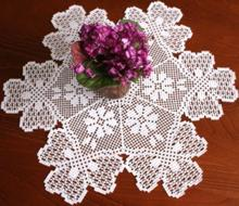 NEW HOLIDAY DOILIES CROCHET BOOK ON CD - 7 HOT DESIGNS items in
