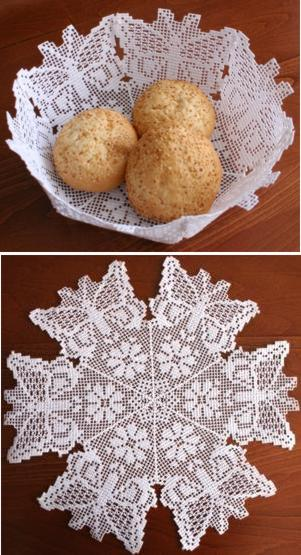FSL Crochet Butterfly Doily or Bowl