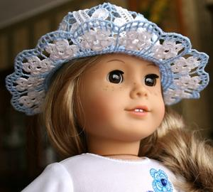 Forget-Me-Not FSL Hat for 18-in. Dolls