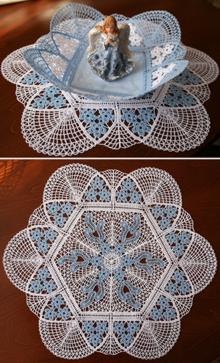 FSL Crochet Forget-Me-Not Bowl and Doily Set