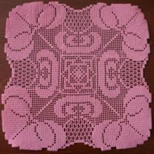 FSL Crochet Lotus Doily Set