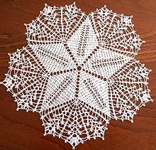 FSL Crochet Feathered Star Doily