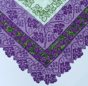 King Size Tuscany Grape Vine Pattern Matelasse Bedspread