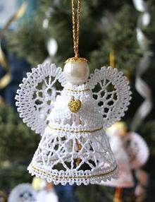 FSL Battenberg 3D Lace Angel Ornament