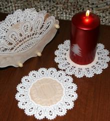 FSL Battenberg Lace Doilies on Balsa Wood or Fabric