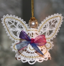 FSL Battenberg 3D Lace Fairy Ornament