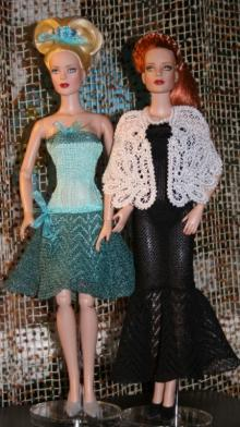 Cocktail Dress and Lace Cape for Tonner 16-in Dolls
