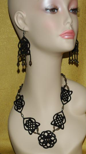 FSL Celtic Necklace and Earring Set III