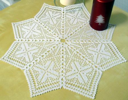 Advanced Embroidery Designs Fsl Crochet Christmas Star Doily