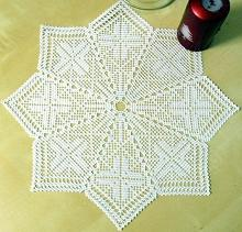 FSL Crochet Christmas Star Doily