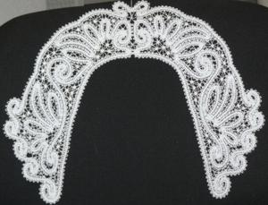FSL Battenberg Lace Collar