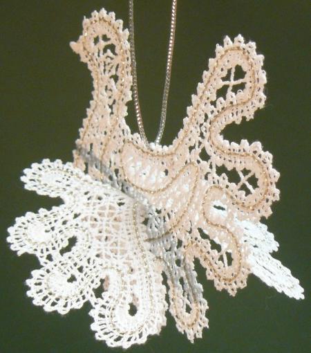 Advanced Embroidery Designs - 3D FSL Battenberg Dove Lace Ornament