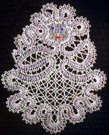 FSL Battenberg Snowmaiden Lace Ornament