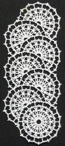 FSL Crochet Daisy Chain Border and Insert Lace Set
