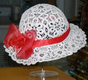 FSL Battenberg Lace Summer Hat