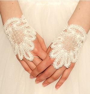FSL Battenberg Bridal Fingerless Lace Gloves