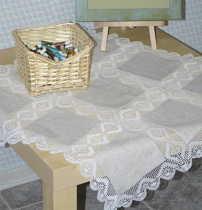 Advanced embroidery designs fsl crochet diamond border - Set de table crochet ...