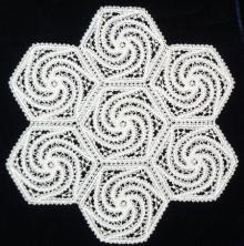 FSL Battenberg Spiral Hexagon Lace Motif