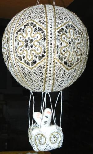 FSL Battenberg Lace Hot-Air Balloon Ornament