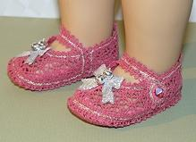 FSL Battenberg Lace Mary Jane Shoes in the Hoop for 18-inch Dolls