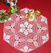 FSL Crochet Triangle Flower Motif