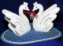 FSL Battenberg Swan Lace Ring Bearers