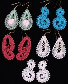 FSL Battenberg Earrings Lace Set
