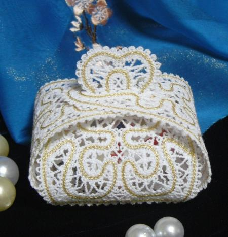 Advanced Embroidery Designs Fsl Battenberg Lace Wedding Favor Box