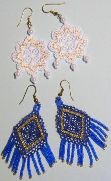 FSL Battenberg Earrings Lace Set II